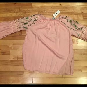 Laura Ashley Charm offshoulder Flare Sleeve blouse